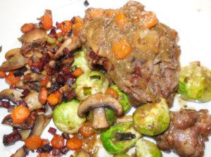 abendessen-zum-abnehmen-wilder-hase-mit-Gemüseauflauf